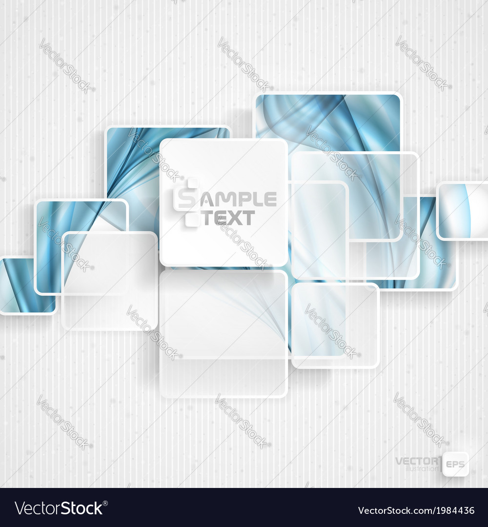 White square element on stripes background vector   Price: 1 Credit (USD $1)