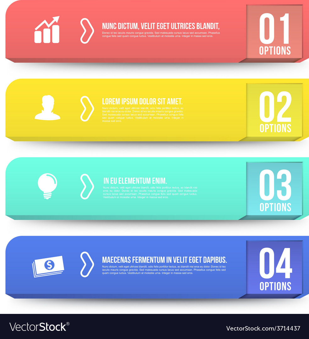 Banner options 3d digital infographic vector | Price: 1 Credit (USD $1)