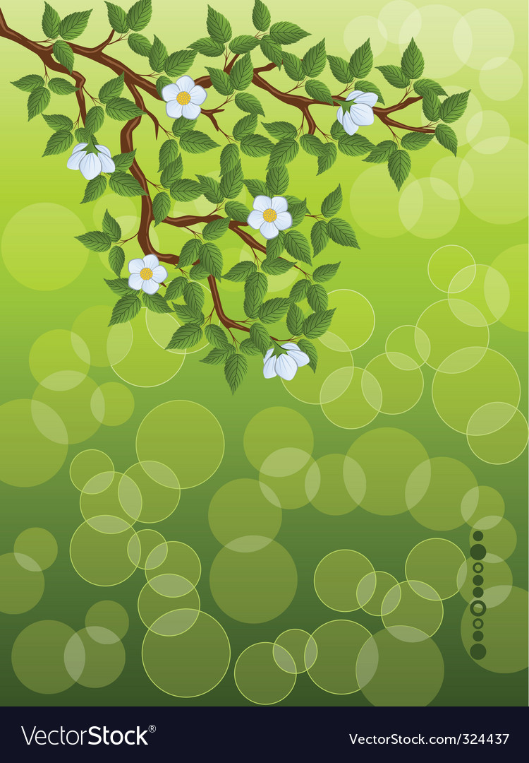 Floral branch vector | Price: 3 Credit (USD $3)
