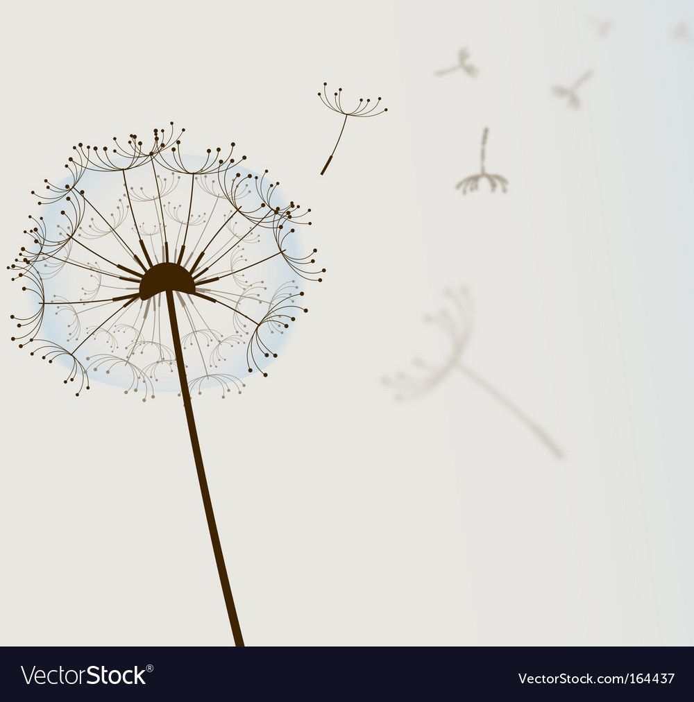 Flower in wind vector
