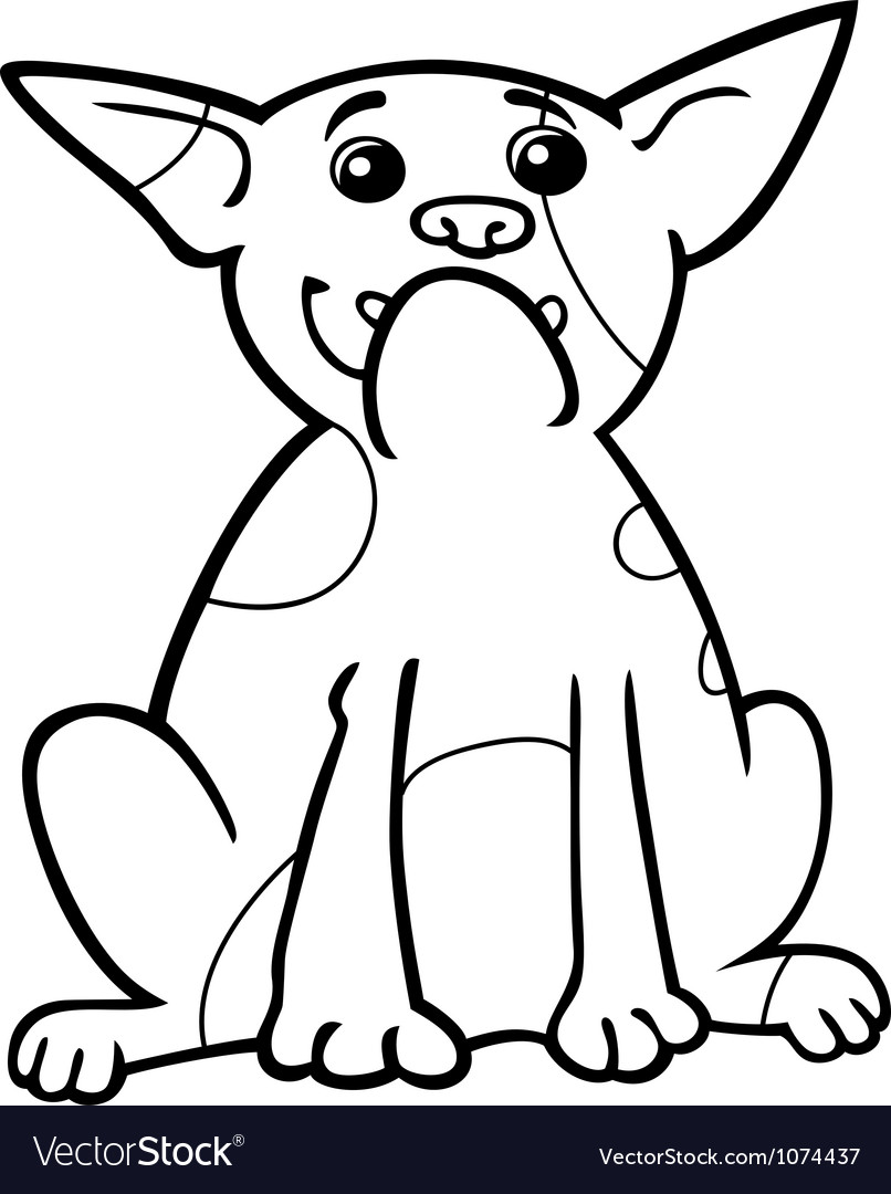 French bulldog cartoon for coloring vector | Price: 1 Credit (USD $1)