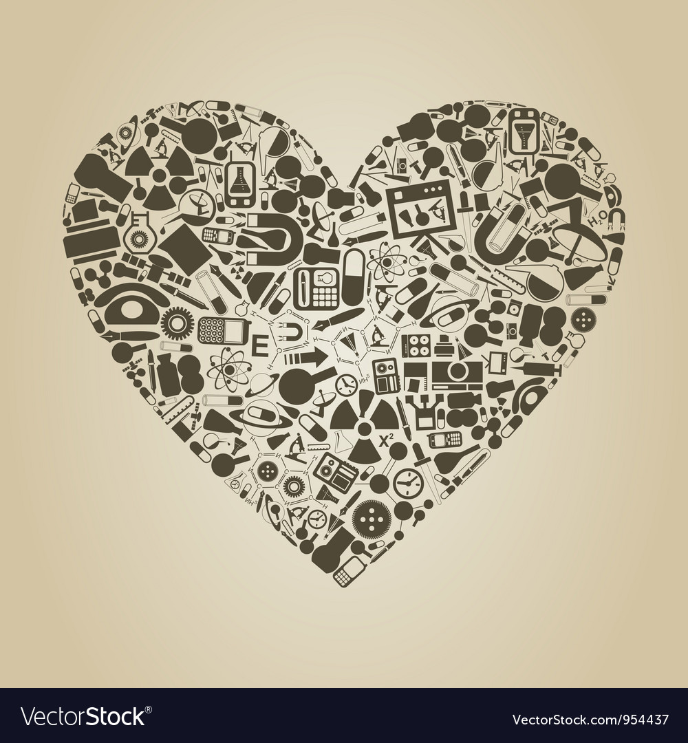 Heart a science vector | Price: 1 Credit (USD $1)