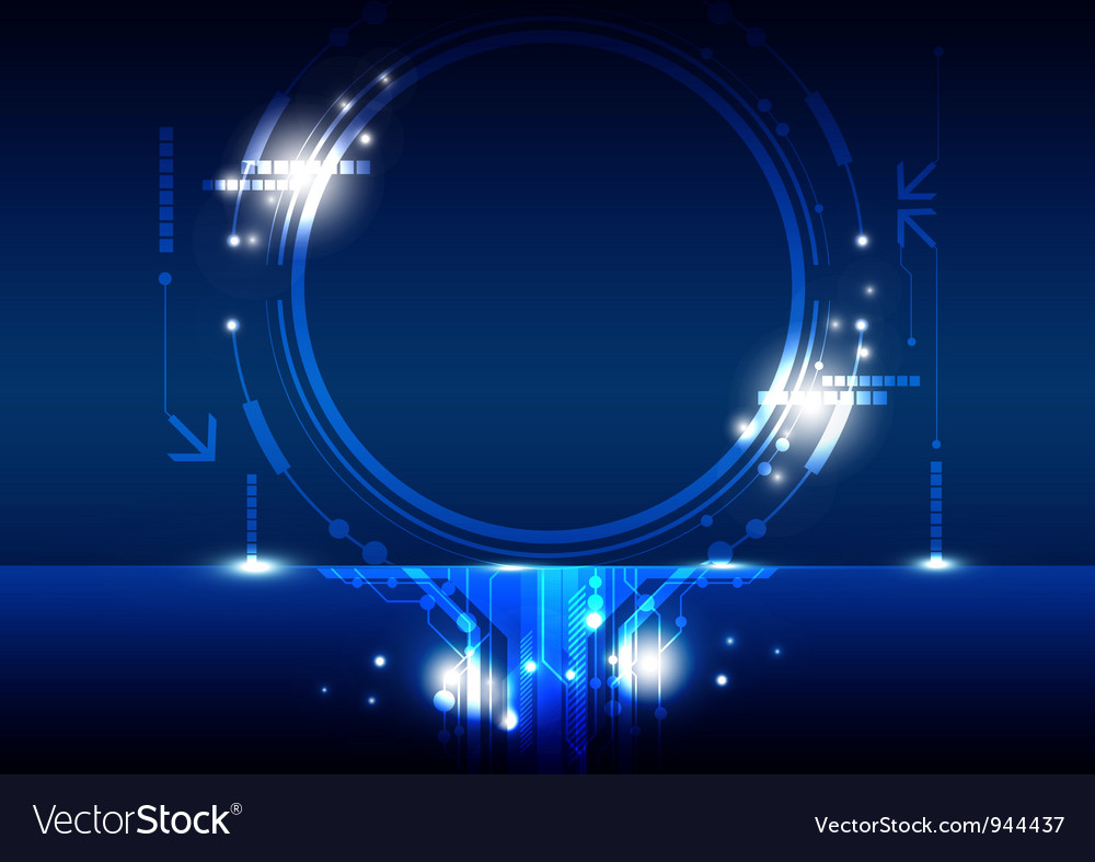 Hi tech circle frame design vector | Price: 1 Credit (USD $1)
