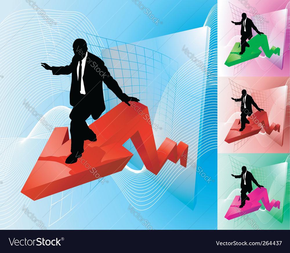 Profit surfer business concept illustration vector | Price: 1 Credit (USD $1)