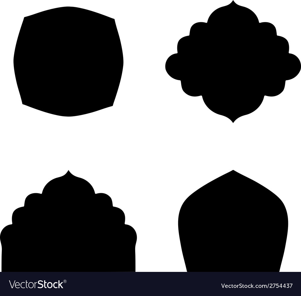Set of farmes silhouette vector | Price: 1 Credit (USD $1)