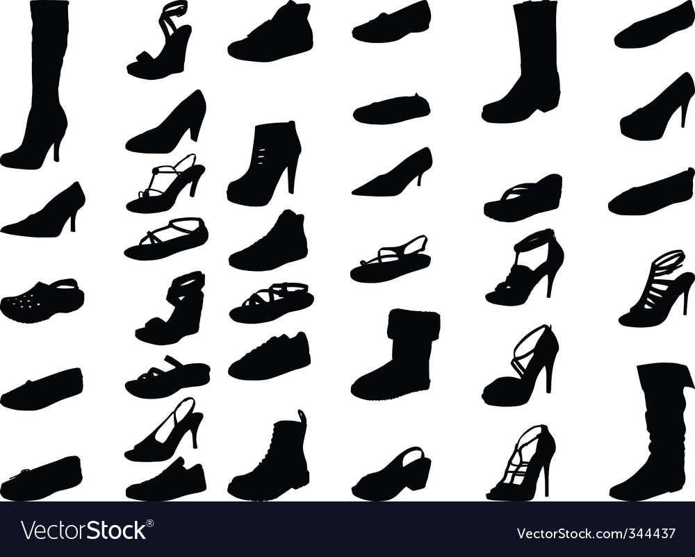 Shoe silhouette  high quality vector | Price: 1 Credit (USD $1)