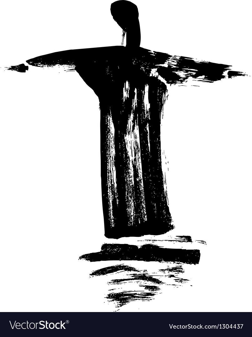 Statue cristo redentor vector | Price: 1 Credit (USD $1)