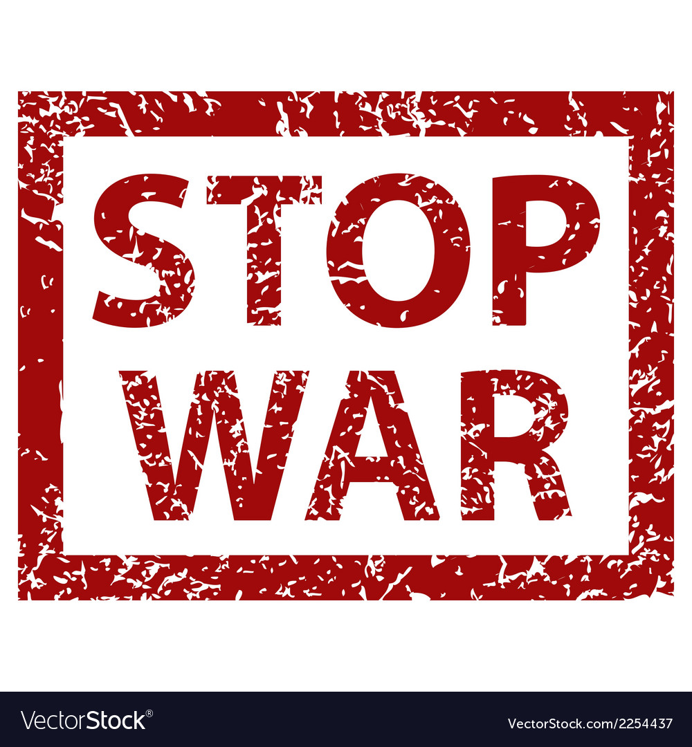 Stop war banner vector | Price: 1 Credit (USD $1)
