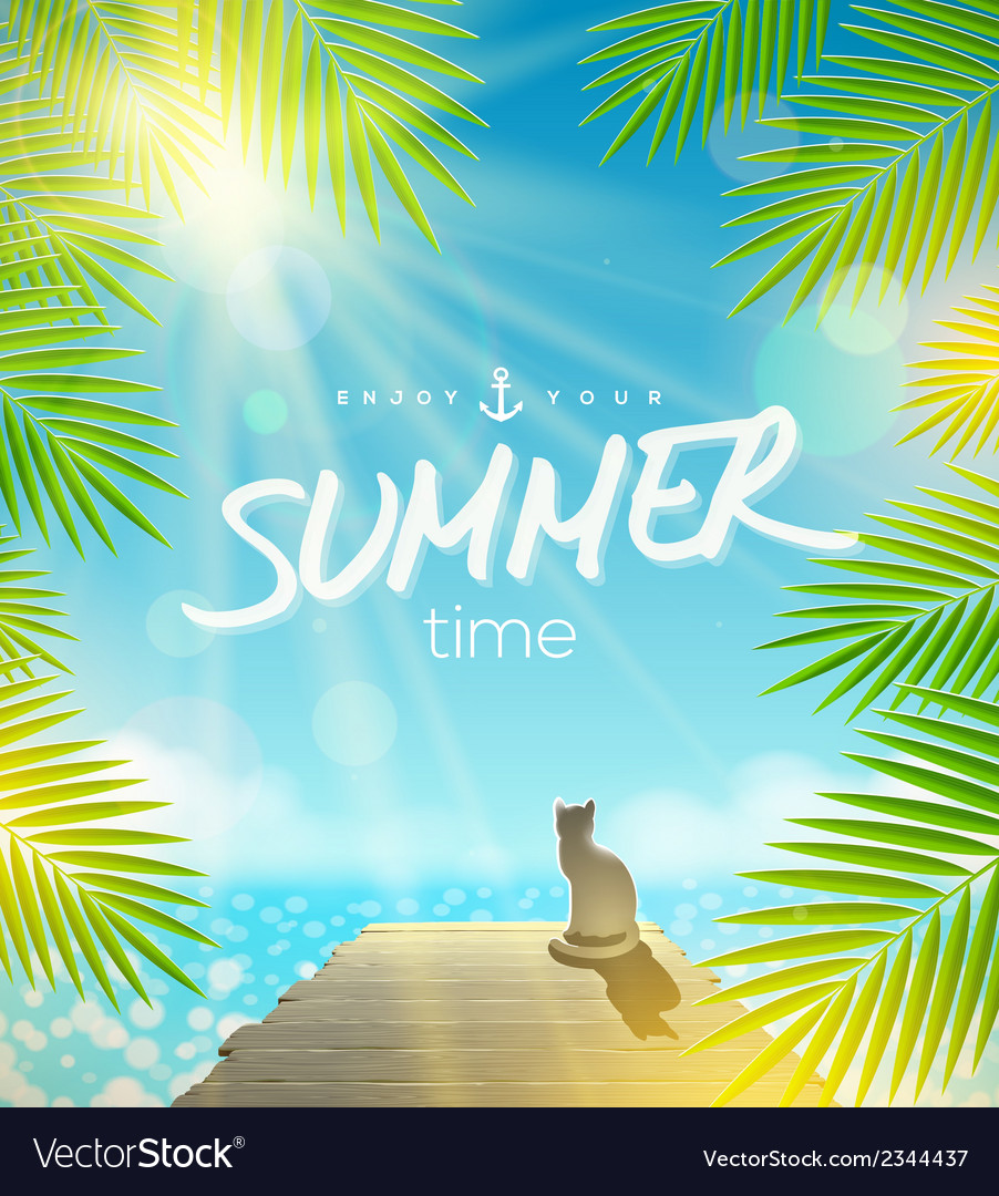 Summer holidays design vector | Price: 1 Credit (USD $1)