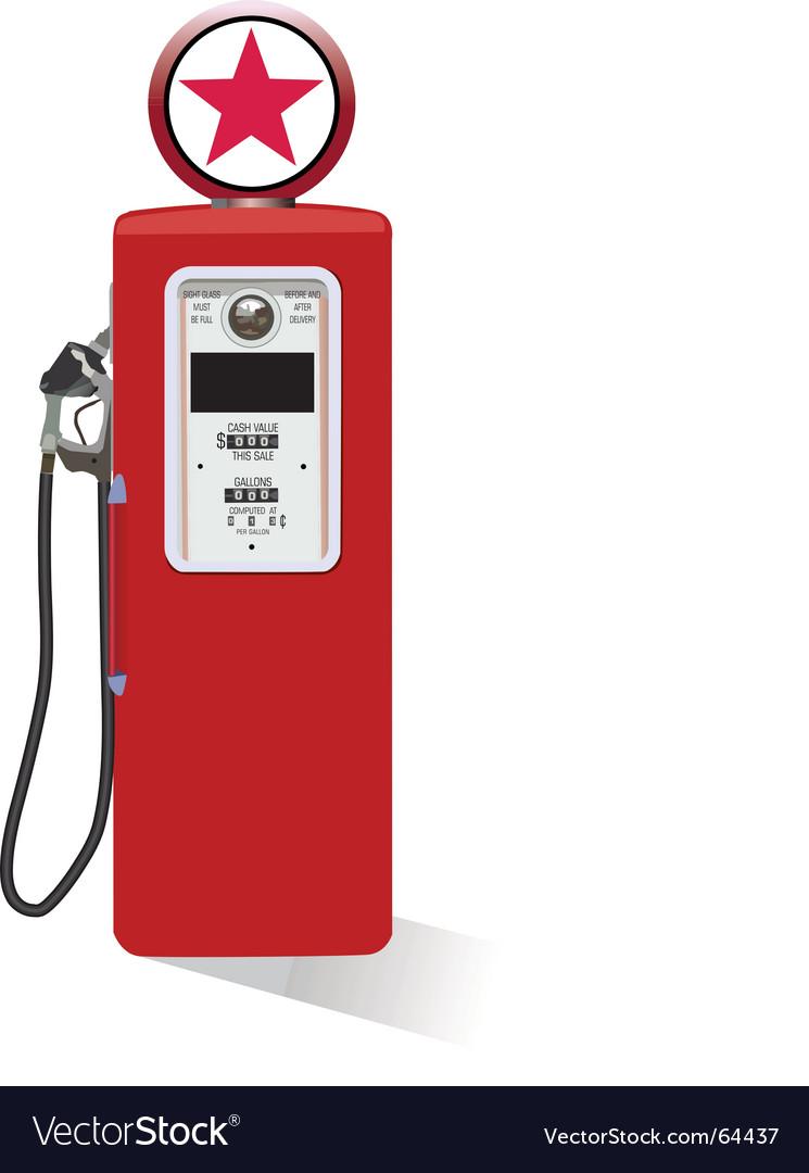 Vintage gasoline pump vector | Price: 1 Credit (USD $1)