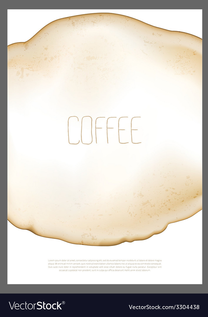 Abstract coffee stain vector | Price: 1 Credit (USD $1)