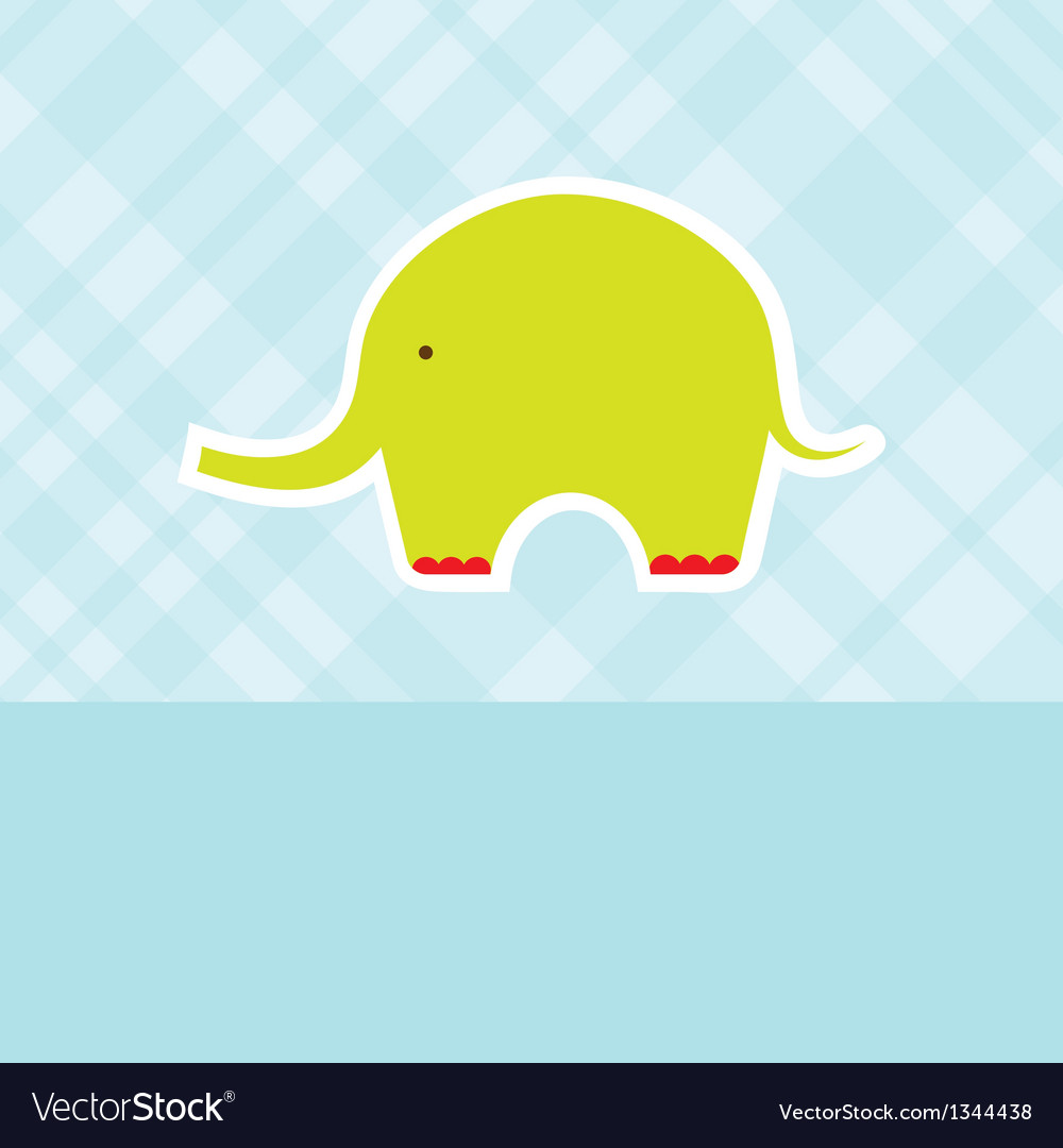 Baby boy shower card with cute elephant vector | Price: 1 Credit (USD $1)