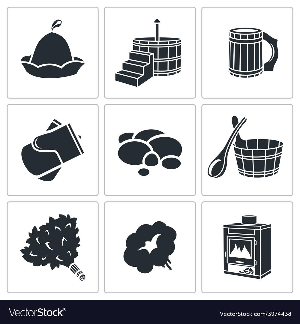 Bath accessories icons set vector | Price: 1 Credit (USD $1)