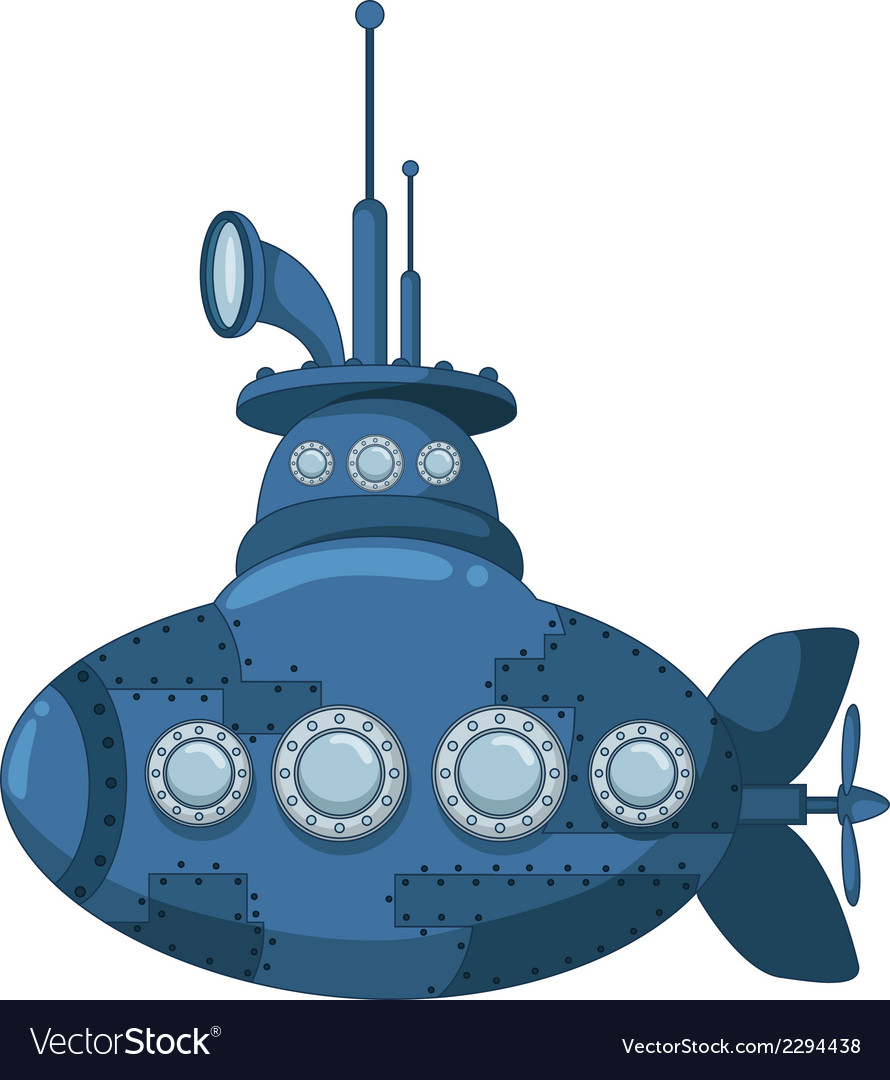 Blue submarine for you design vector | Price: 1 Credit (USD $1)