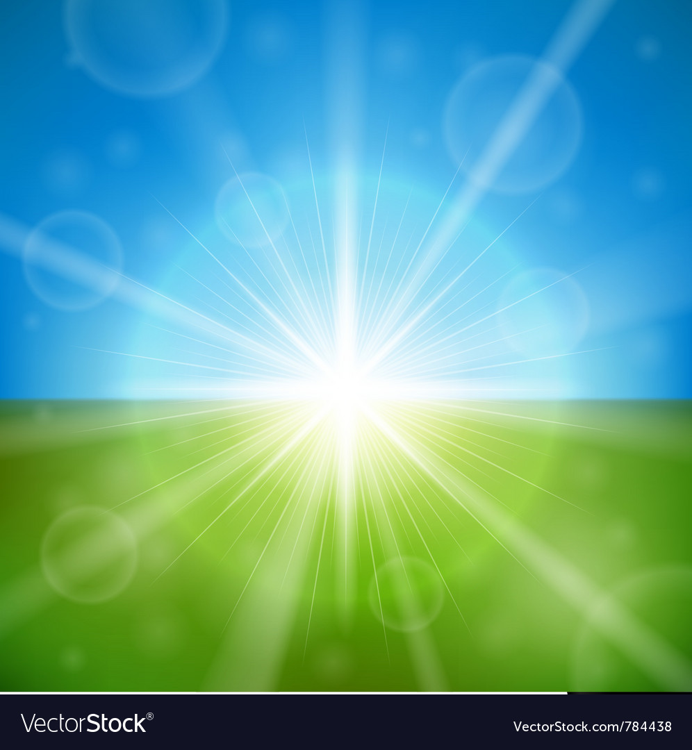 Bright summer sun vector | Price: 1 Credit (USD $1)
