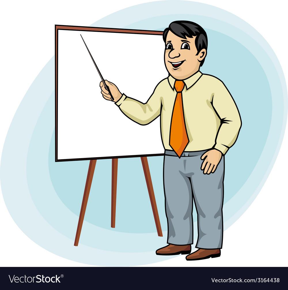 Businessman make presentation vector   Price: 1 Credit (USD $1)