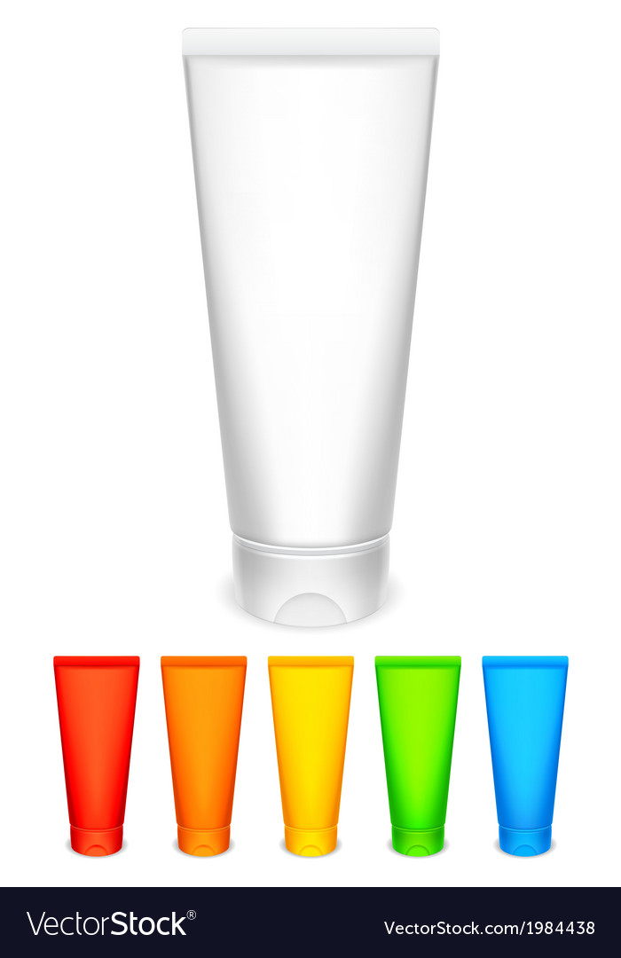 Color tubes of cream vector   Price: 1 Credit (USD $1)