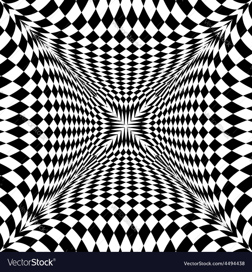 Design monochrome motion checkered background vector | Price: 1 Credit (USD $1)