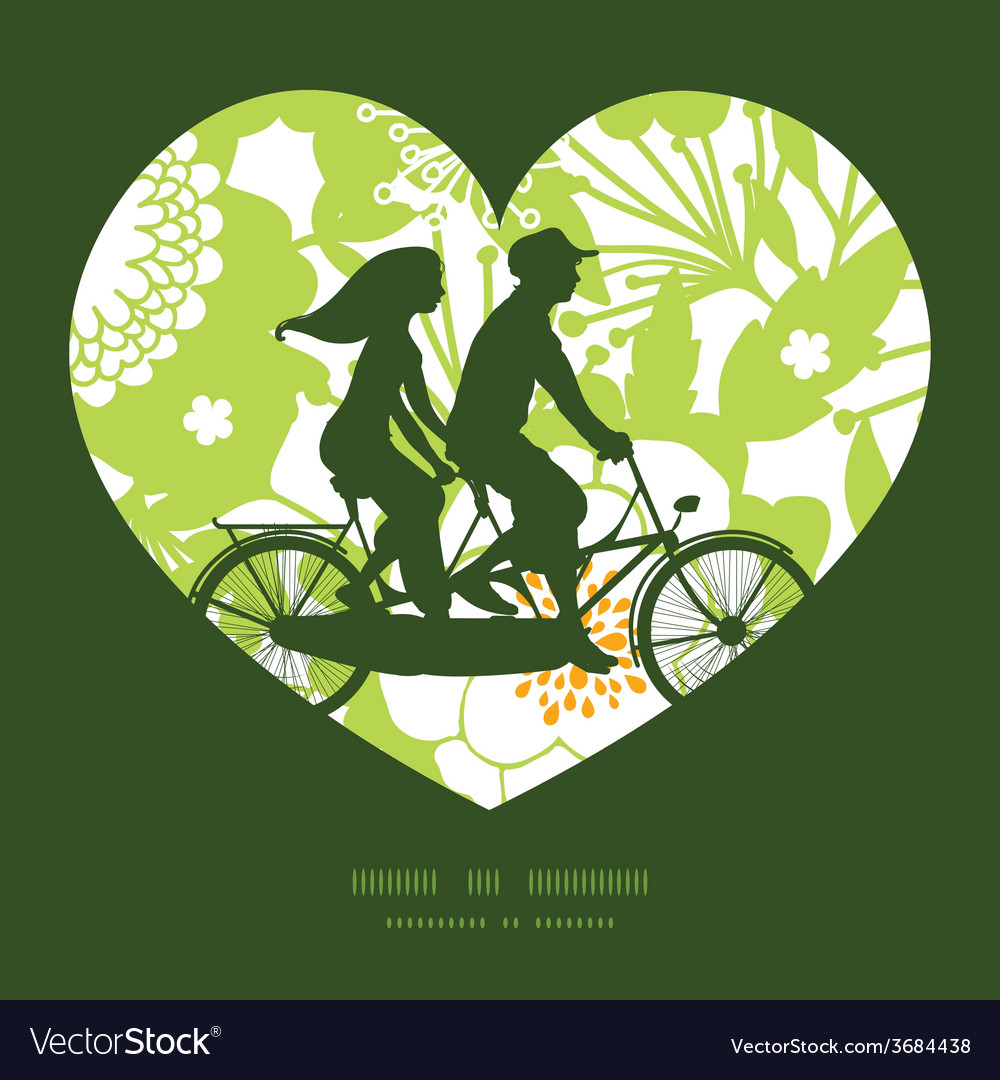 Green and golden garden silhouettes couple on vector | Price: 1 Credit (USD $1)