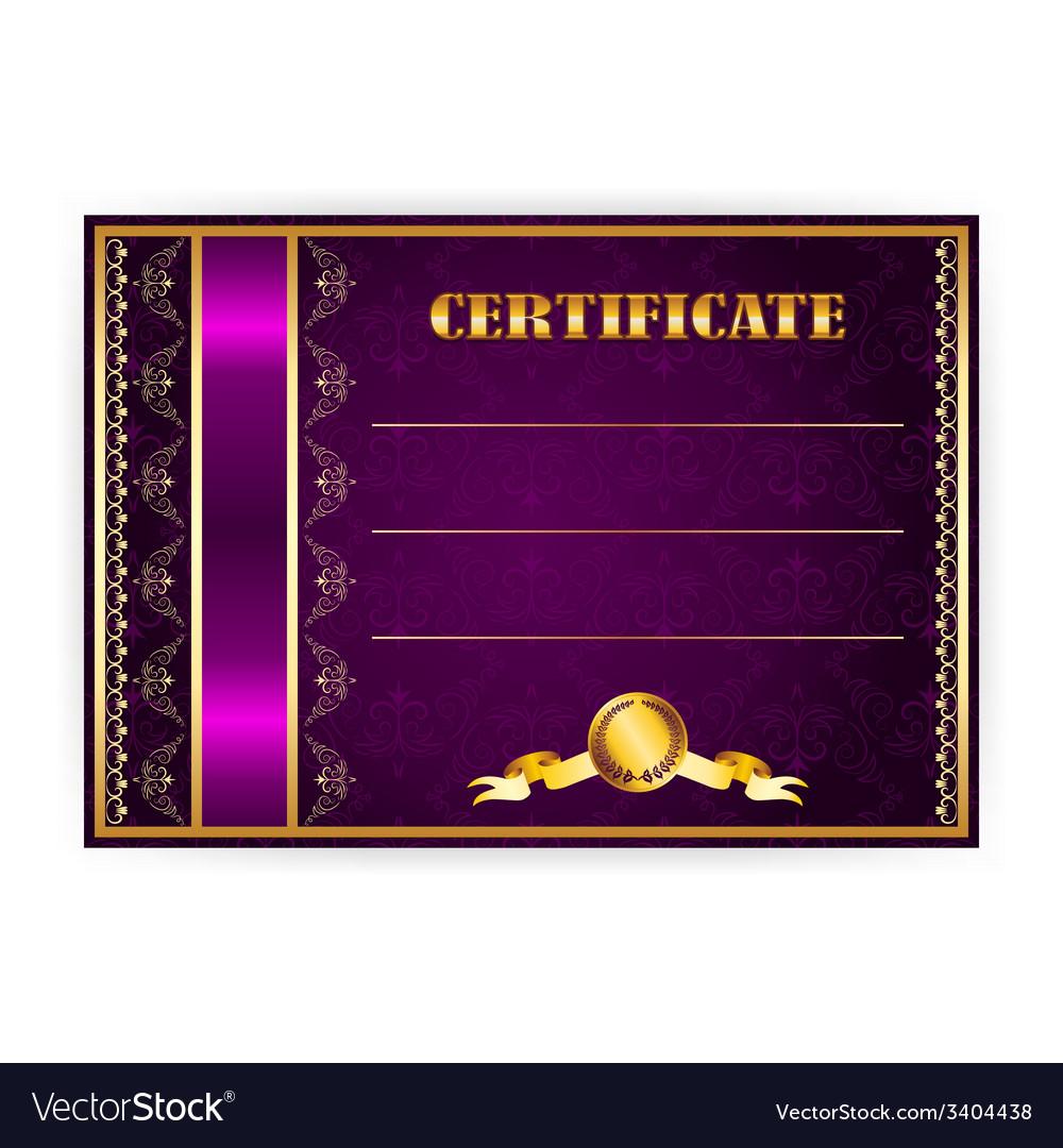 Horizontal elegant template of certificate vector | Price: 1 Credit (USD $1)