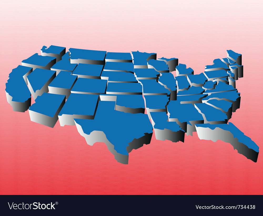 Map of united states puzzle vector | Price: 1 Credit (USD $1)