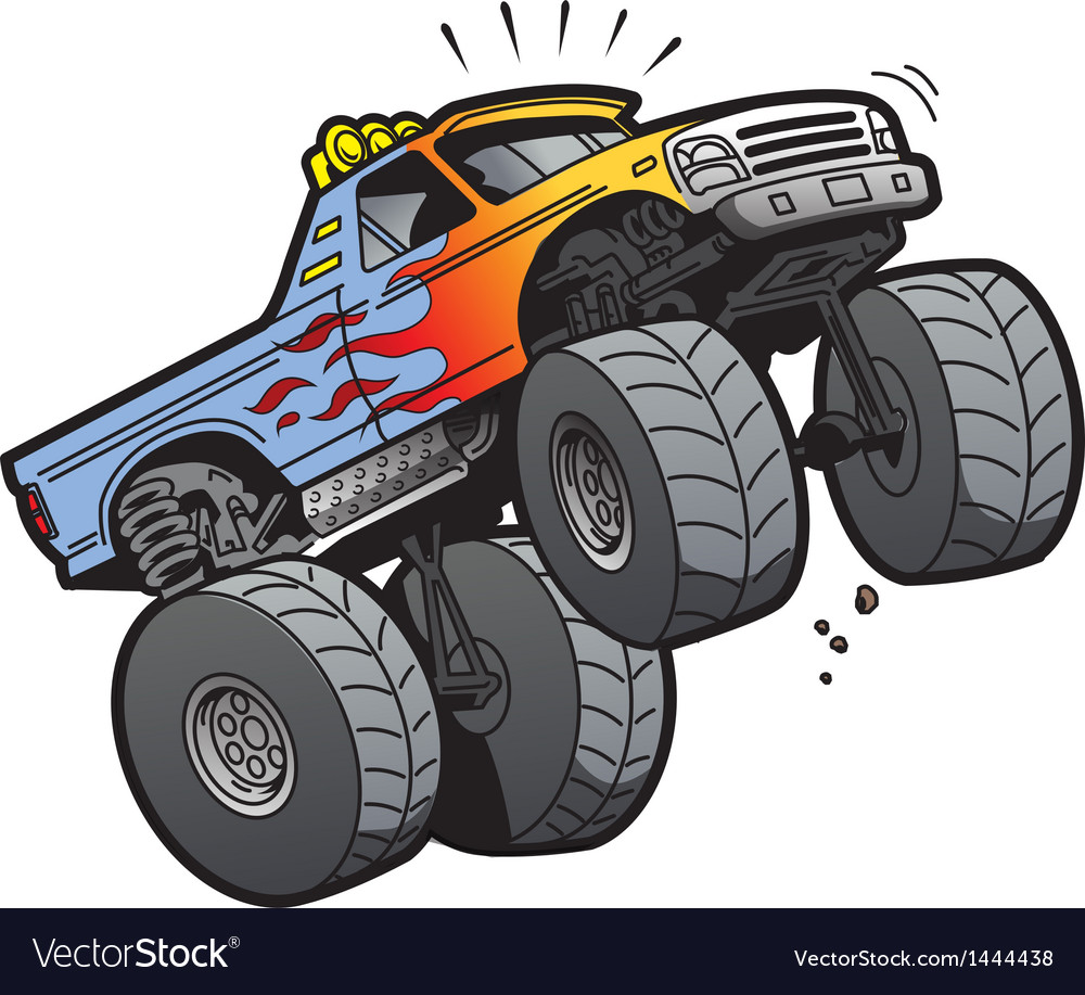 Monster truck jumping vector | Price: 1 Credit (USD $1)