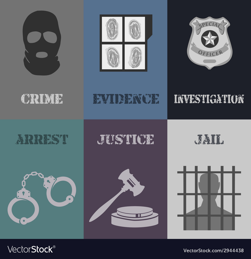 Police mini posters vector | Price: 1 Credit (USD $1)