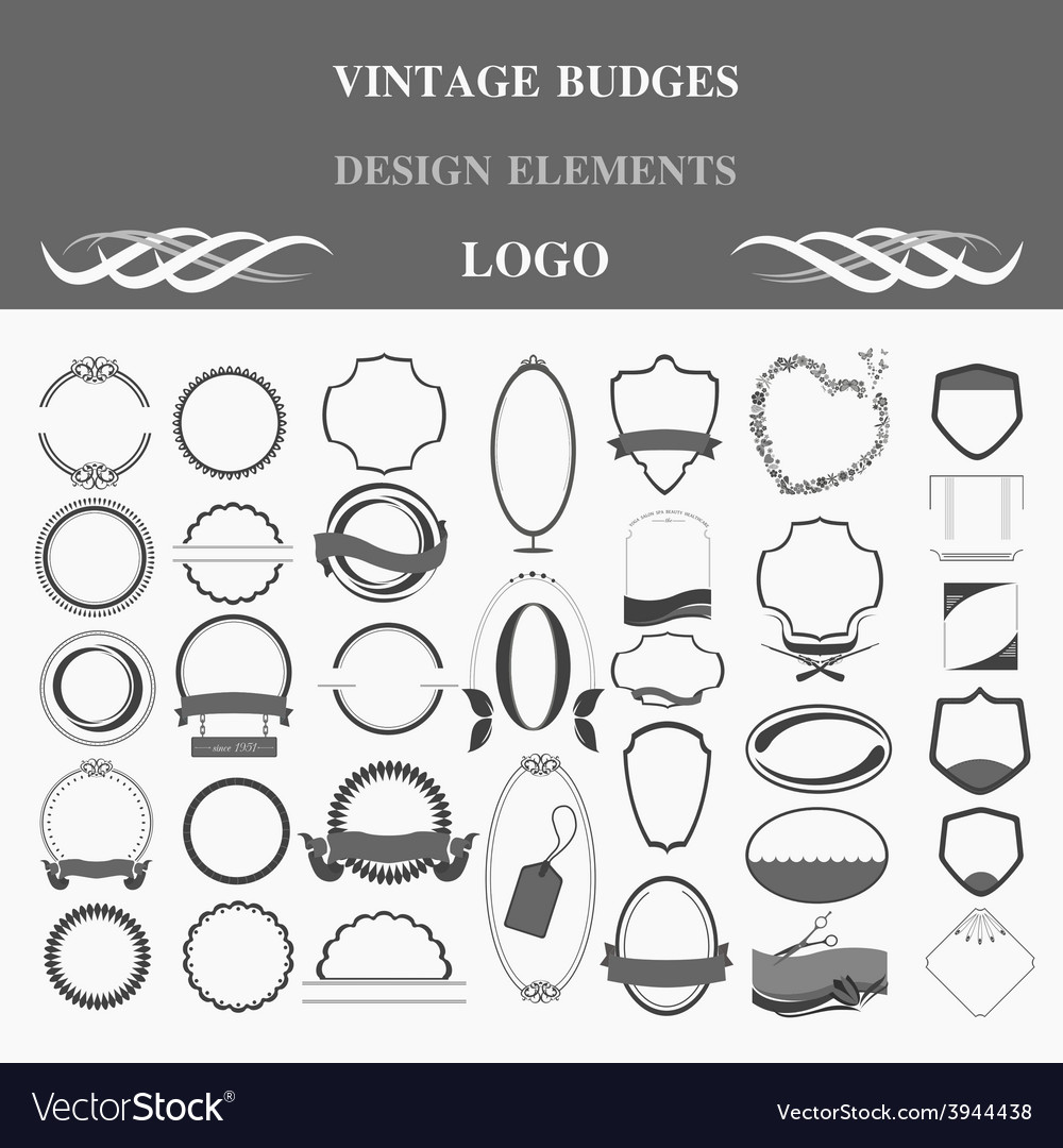 Retro badges design logo template vector | Price: 1 Credit (USD $1)