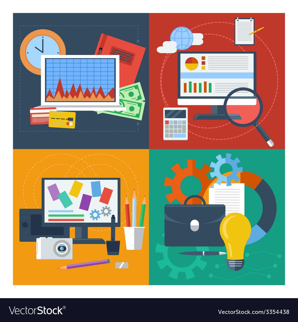 Set of concept for finance marketing web design vector   Price: 1 Credit (USD $1)