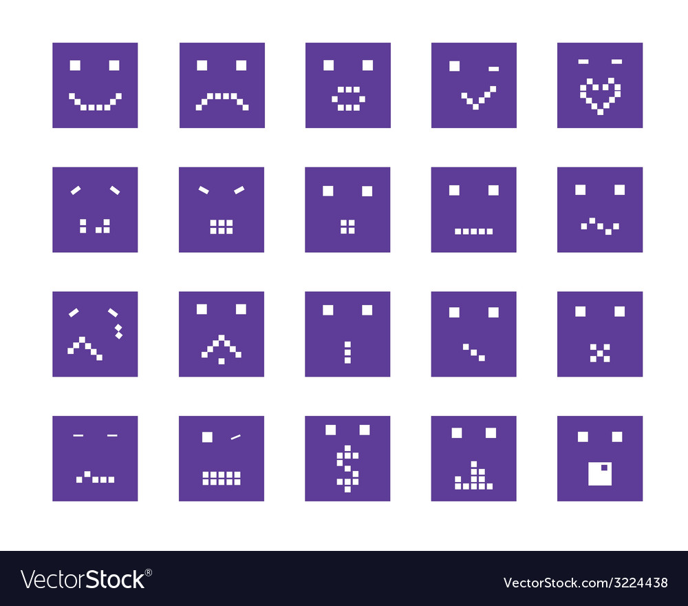 Smiling faces vector | Price: 1 Credit (USD $1)