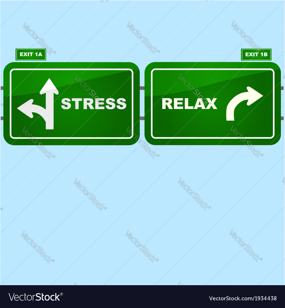 Stress or relax vector | Price: 1 Credit (USD $1)