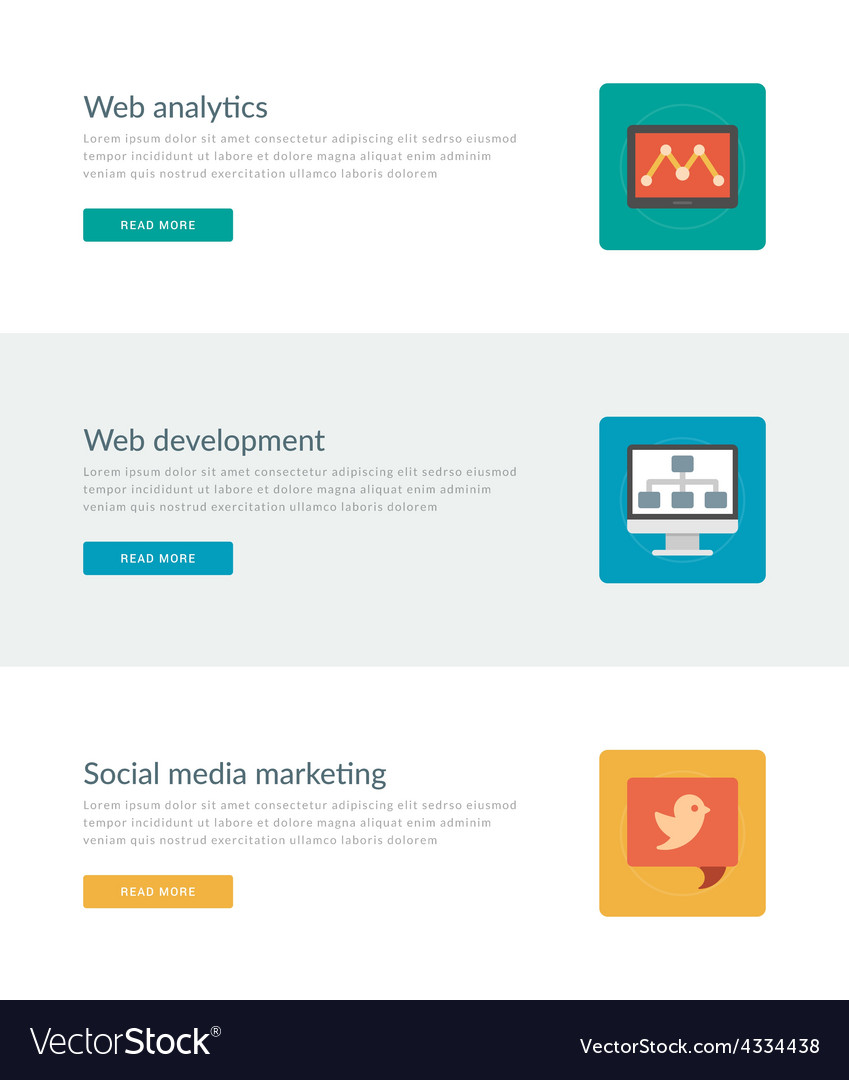 Website headers or promotion banners templates and vector | Price: 1 Credit (USD $1)