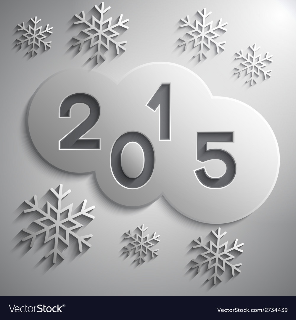 Abstract grey circles for the new year 2015 vector | Price: 1 Credit (USD $1)