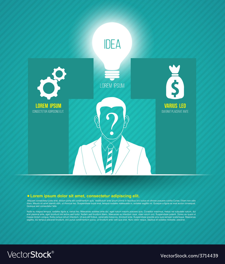 Business concepts with icons can use for infograph vector | Price: 1 Credit (USD $1)