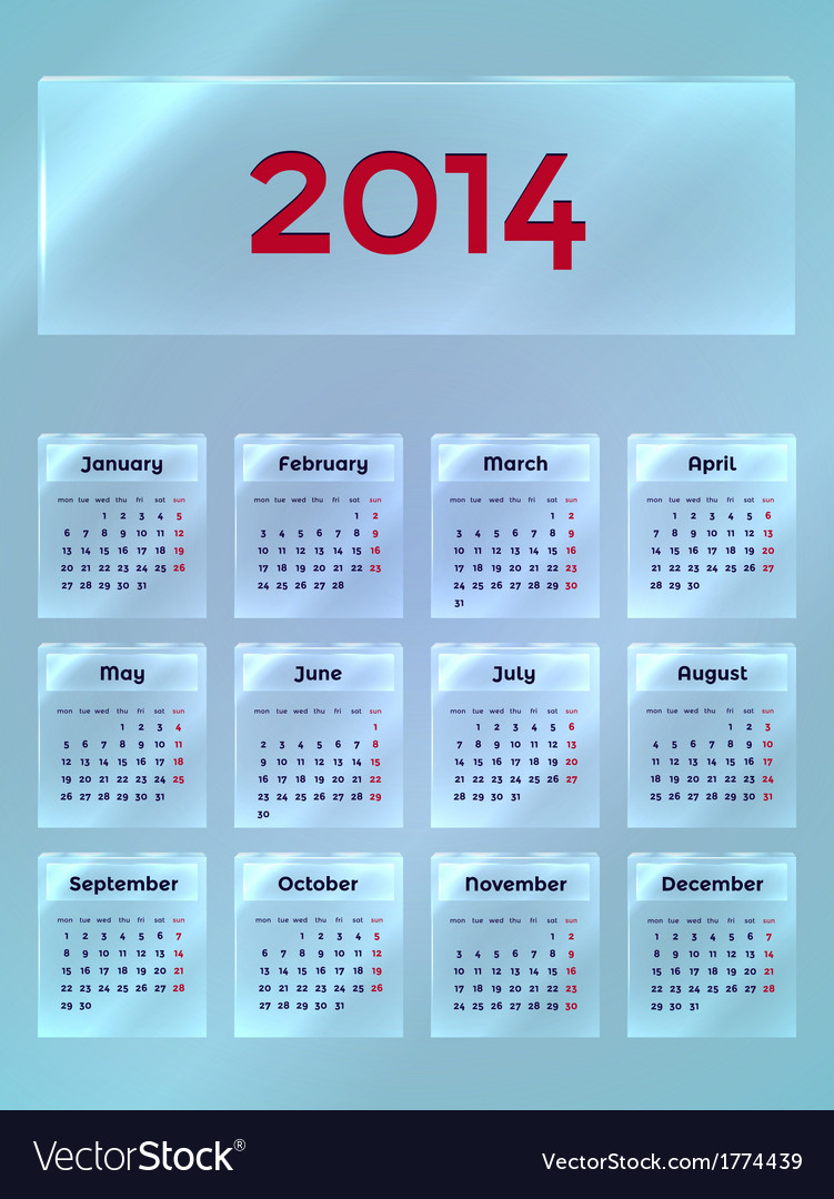 Calendar on the glass vector | Price: 1 Credit (USD $1)