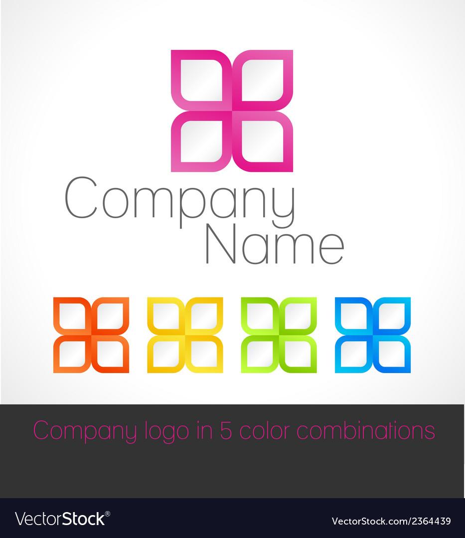 Company logo in five color combinations vector | Price: 1 Credit (USD $1)
