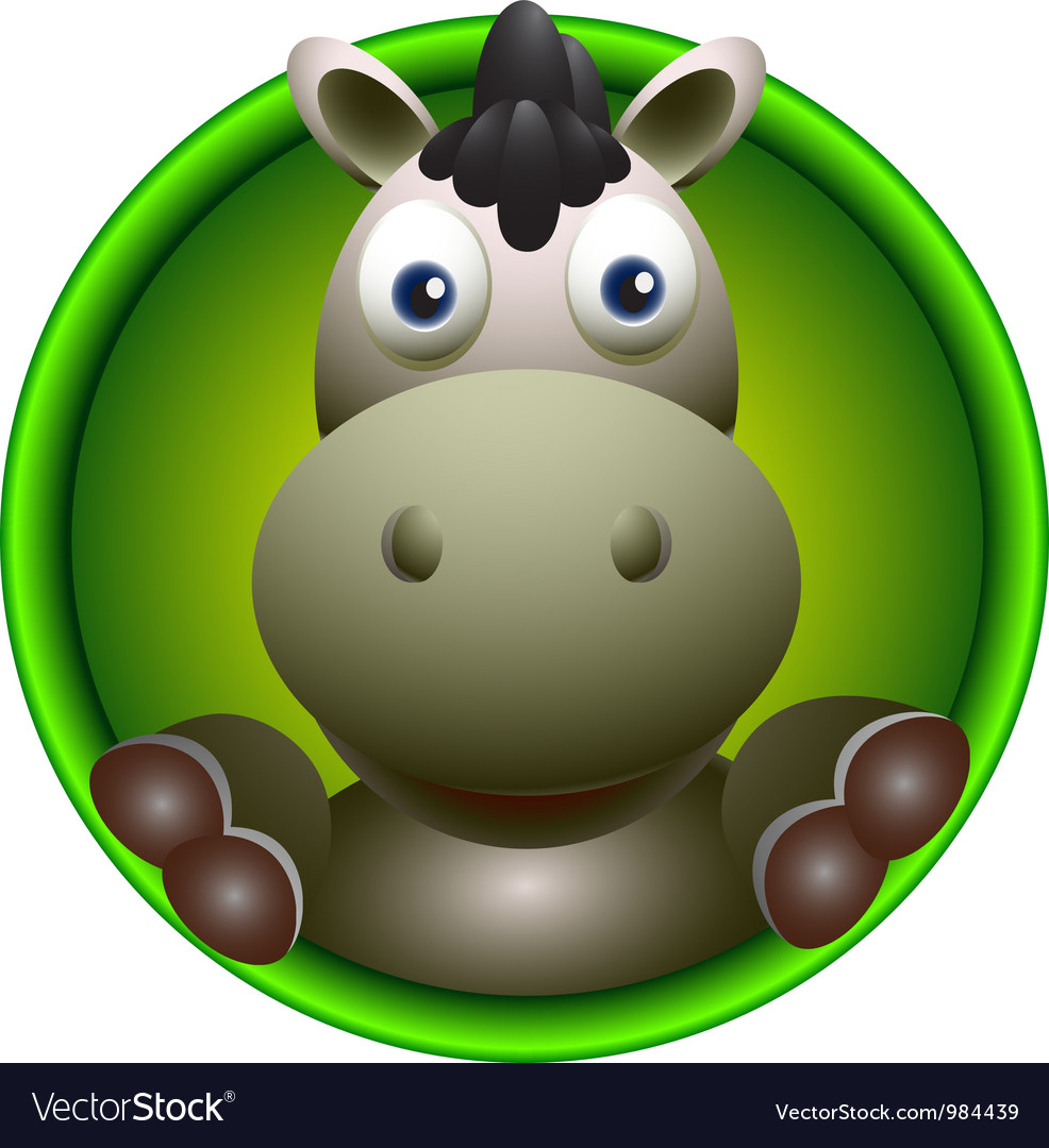 Cute donkey vector | Price: 1 Credit (USD $1)