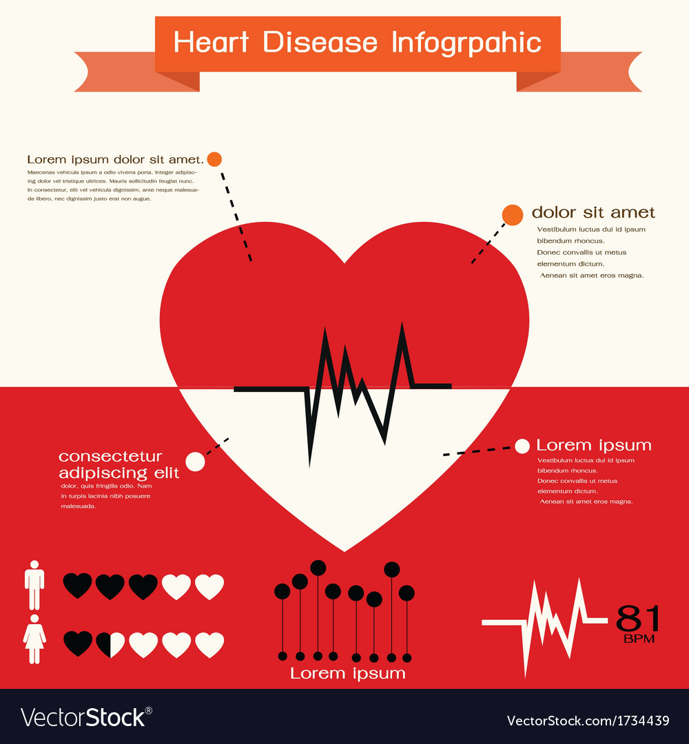 Heart infographic vector | Price: 1 Credit (USD $1)