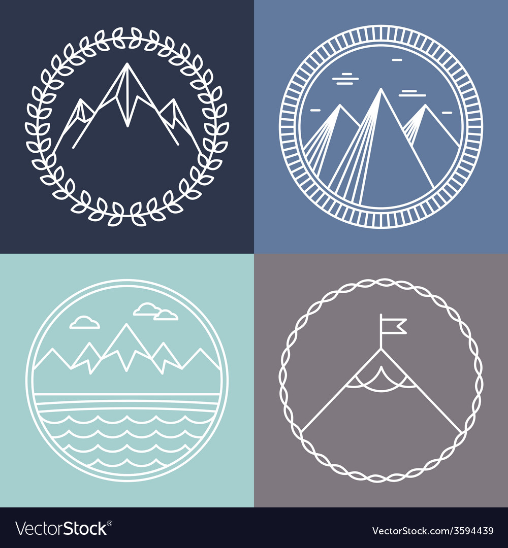 Mountain logos vector | Price: 1 Credit (USD $1)