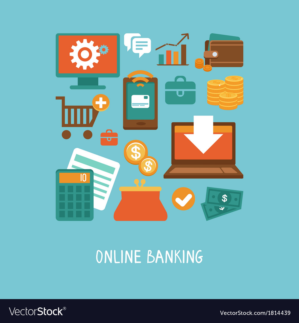 Online banking and business vector | Price: 1 Credit (USD $1)