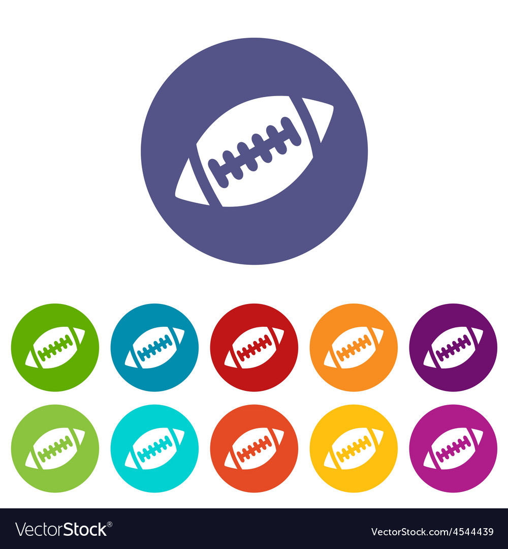 Rugby ball icon set vector | Price: 1 Credit (USD $1)