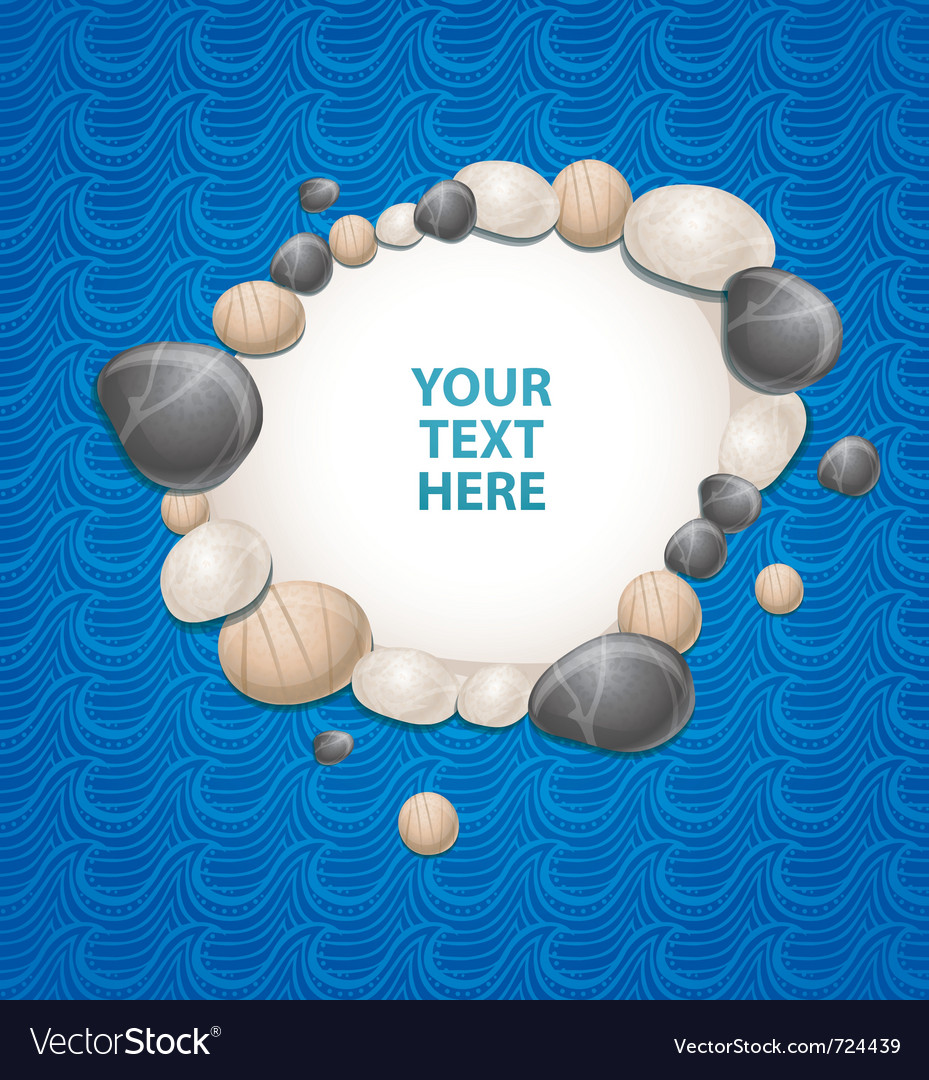 Sea background with stones and copy-space for text vector | Price: 1 Credit (USD $1)