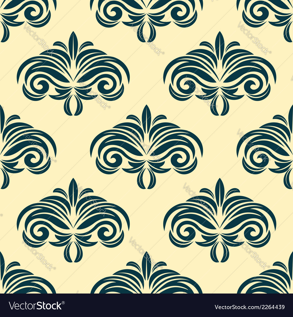 Vintage floral seamless pattern background vector | Price: 1 Credit (USD $1)