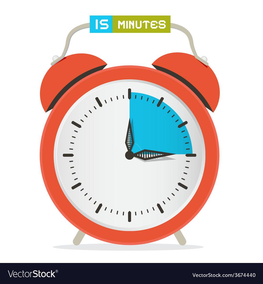 15  fifteen minutes stop watch  alarm clock vector