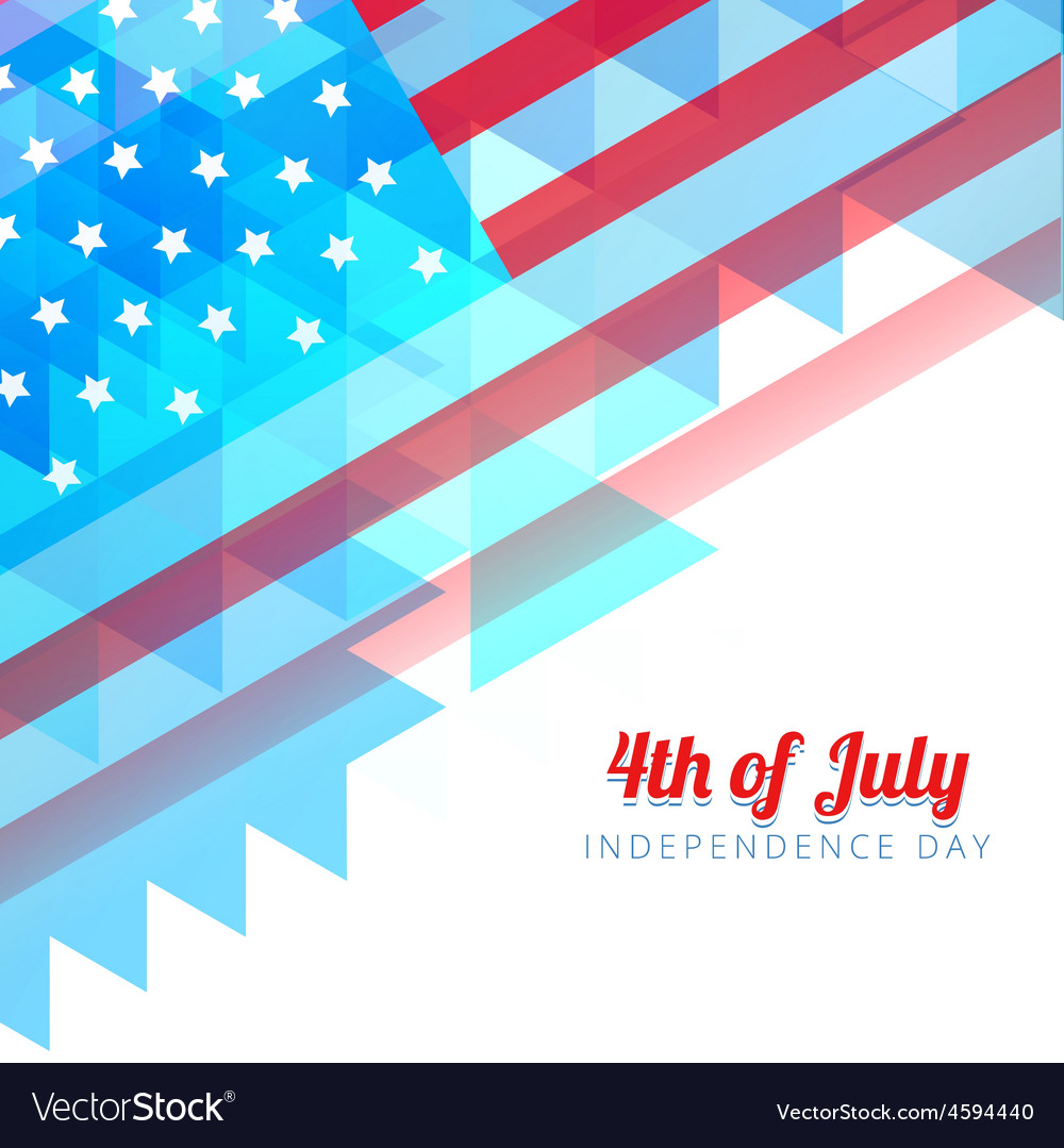 Abstract style independence day background vector