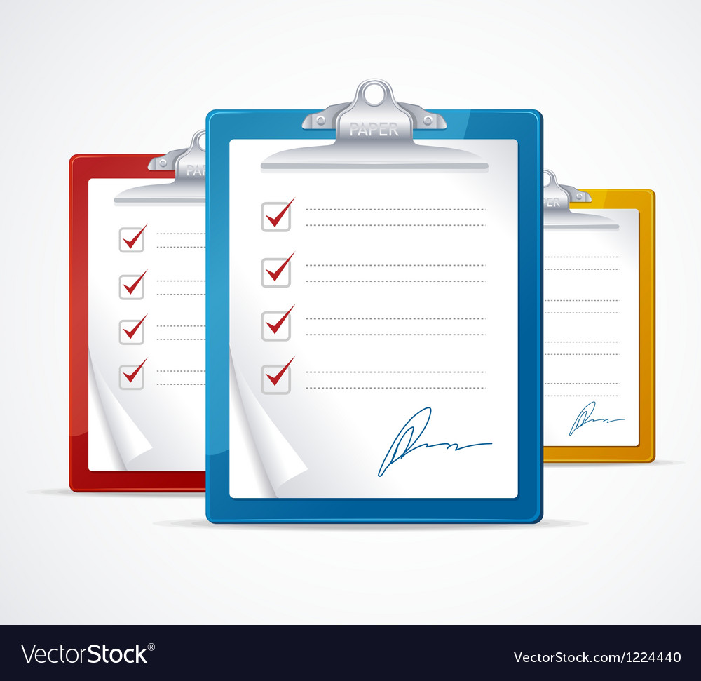 Check list and signature vector | Price: 3 Credit (USD $3)