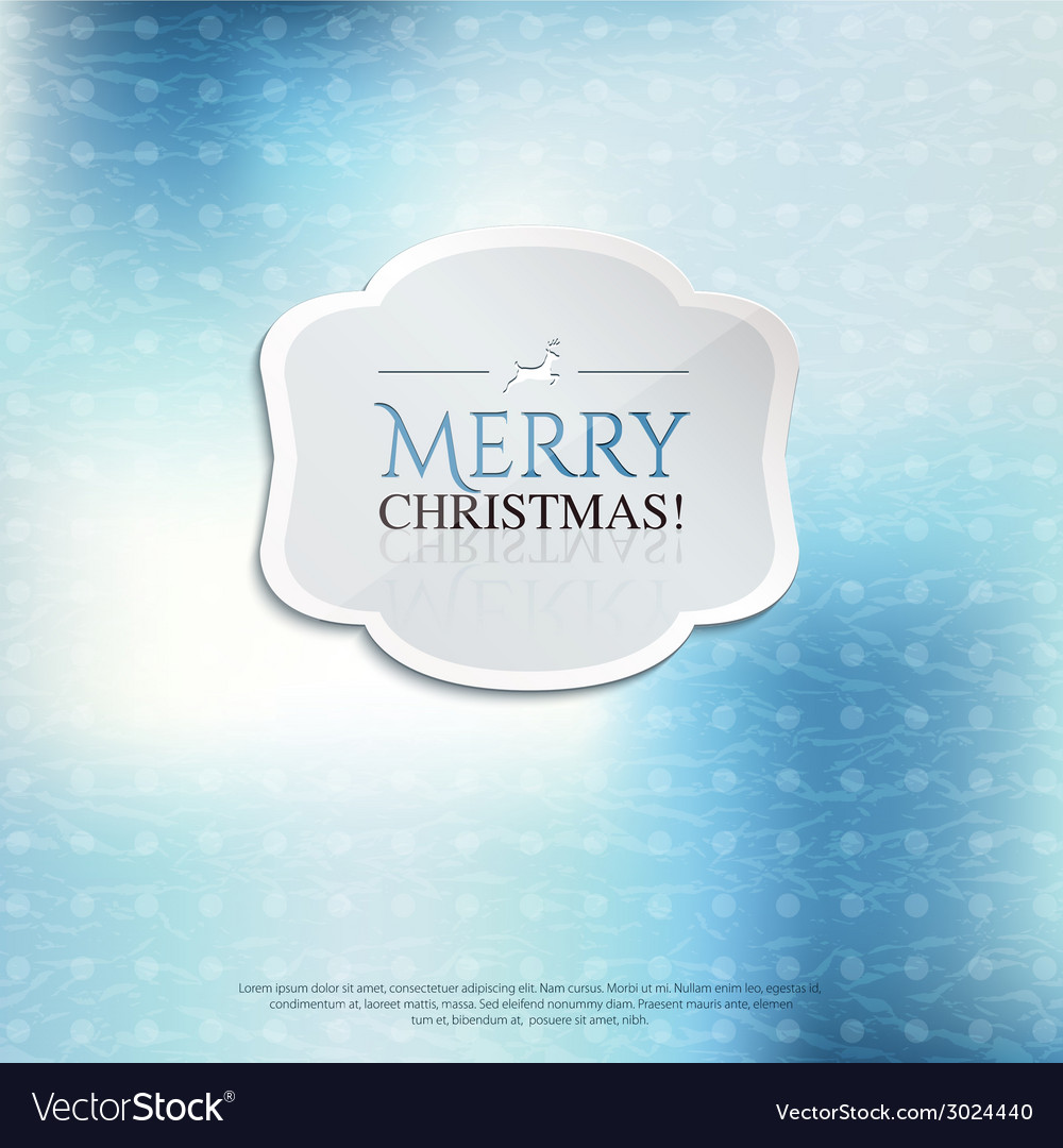 Christmas card with label on color background vector | Price: 1 Credit (USD $1)