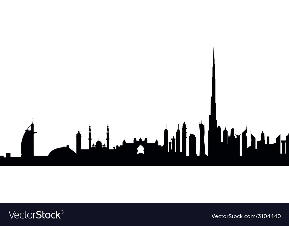 Dubai skyline vector | Price: 1 Credit (USD $1)