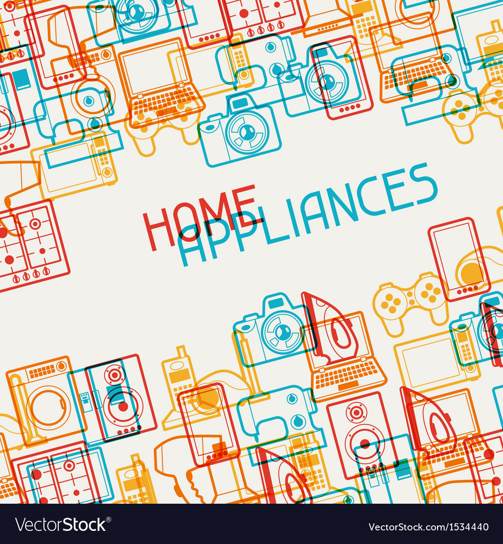 Home appliances and electronics background vector | Price: 1 Credit (USD $1)
