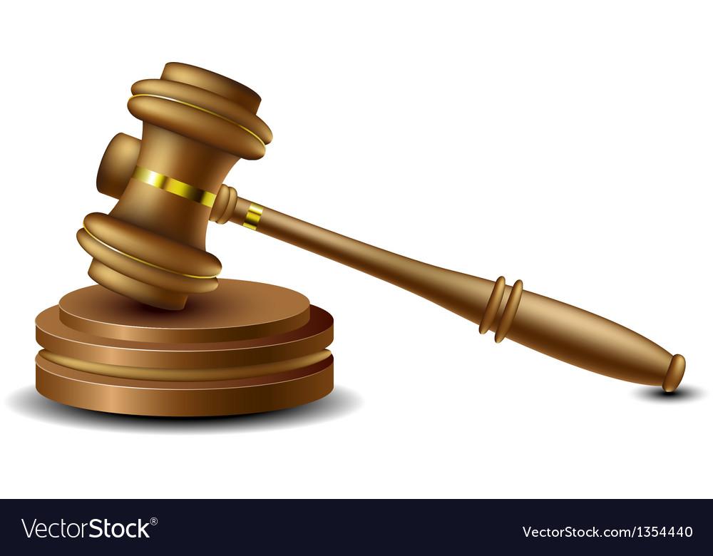 Judge gavel vector | Price: 1 Credit (USD $1)